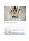 Pieces of Advice on MBA Research Proposal Writing - Page 3