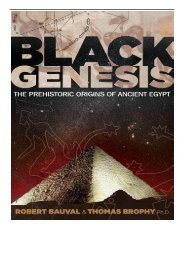 [PDF] Download Black Genesis The Prehistoric Origins of Ancient Egypt Full Online