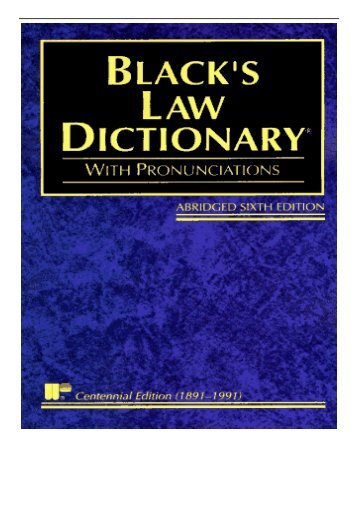 [PDF] Download Black's Law Dictionary Abridged Definitions of the Terms and Phrases of American Law