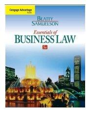 Pdf business law cheeseman