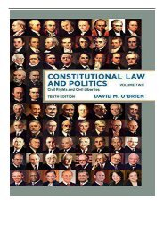 [PDF] Download Constitutional Law and Politics Civil Rights and Civil Liberties 2 Full pages