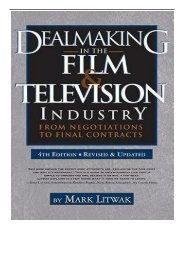 [PDF] Download Dealmaking in Film  Television Industry 4rd Edition Revised  Updated Full ePub