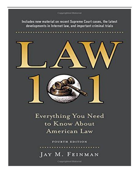 Pdf Download Law 101 Everything You Need To Know About The American