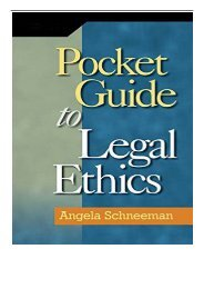 [PDF] Download Pocket Guide to Legal Ethics Full Books
