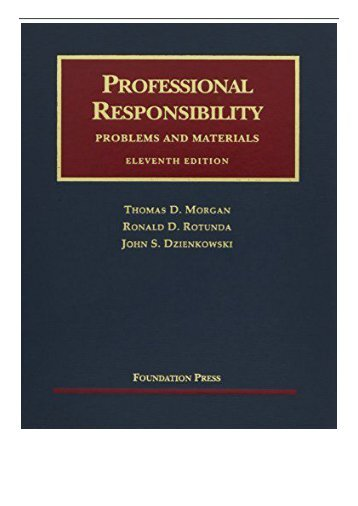 [PDF] Download Professional Responsibility Problems and Materials University Casebooks Full ePub