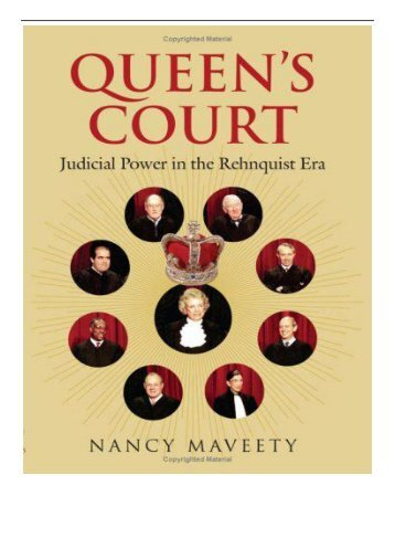 [PDF] Download Queen's Court Judicial Power in the Rehnquist Era Full pages