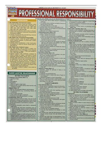 [PDF] Download Professional Responsibility Quick Study Full pages