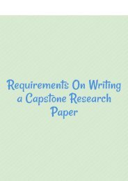 Requirements on Writing a Capstone Research Paper
