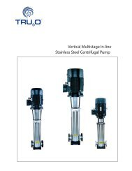 Stainless Steel Centrifugal Pump Vertical Multistage In-line - Tru20