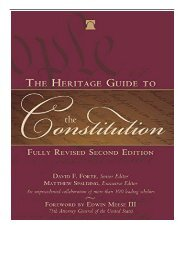 [PDF] Download The Heritage Guide to the Constitution Fully Revised Second Edition Full Books