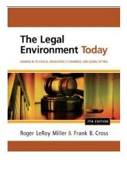 [PDF] Download The Legal Environment Today Business in its Ethical Regulatory E-Commerce and Global