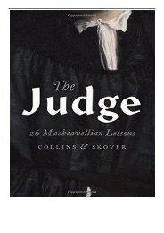 [PDF] Download The Judge 26 Machiavellian Lessons Does Not Belong to a Series Full ePub