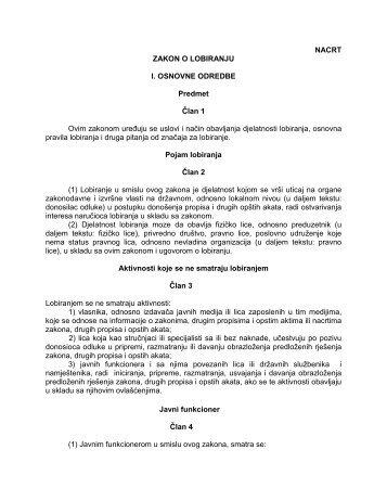 ZAKON o lobiranju , za javnu rapravu.pdf - Hrvatsko društvo lobista