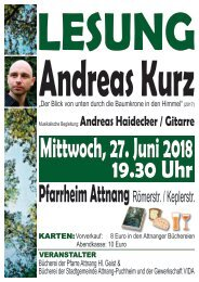 Lesung Andreas Kurz 2018 VS
