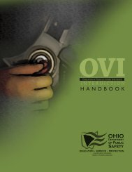 OVI Interdiction Handbook - Ohio Department of Public Safety