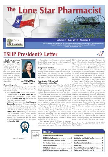 The Lone Star Pharmacist - June 2018