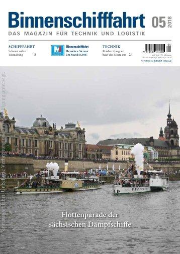 Binnenschifffahrt Mai 2018, Online-Ausgabe