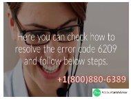 Fix, Resolve Error Code -6209,0 in QuickBooks