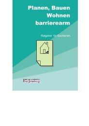Planen, Bauen, Wohnen - barrierearm | Ein Ratgeber für Bauherren