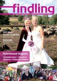 Feiermonat August: - der findling