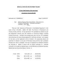 MRB - Recruitment for the Post Pharmacist - Certificate Verification