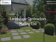 Landscape Contractors Mailing List   Contractors Business Email Database