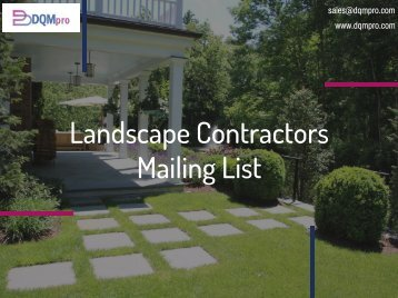 Landscape Contractors Mailing List | Contractors Business Email Database