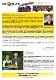 Ferlacher Faifale Ausgabe Dezember 2011 - Oevp Ferlach