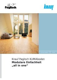 """Knauf Pagitsch KLIMAboden Modulare Einfachheit """"all in one"""""""