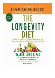 eBook The Longevity Diet Discover the New Science Behind Stem Cell Activation and Regeneration to Slow