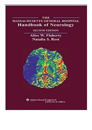 eBook The Massachusetts General Hospital Handbook of Neurology Free books