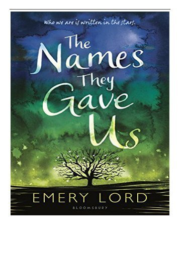 eBook The Names They Gave Us Free online