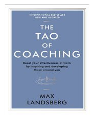 eBook The Tao of Coaching Boost Your Effectiveness at Work by Inspiring and Developing Those Around