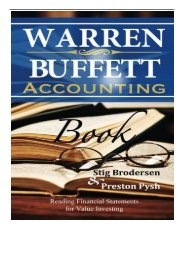 eBook Warren Buffett Accounting Book Reading Financial Statements for Value Investing Free eBook