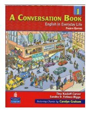 PDF Download A Conversation Book 1 English in Everyday Life Bk. 1 Free eBook