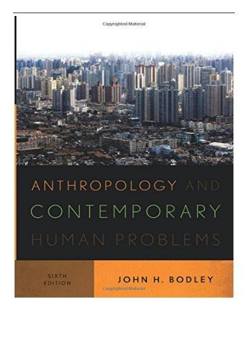 PDF Download Anthropology and Contemporary Human Problems Free books