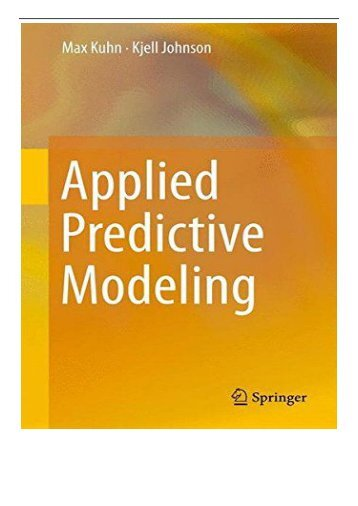 PDF Download Applied Predictive Modeling Free books