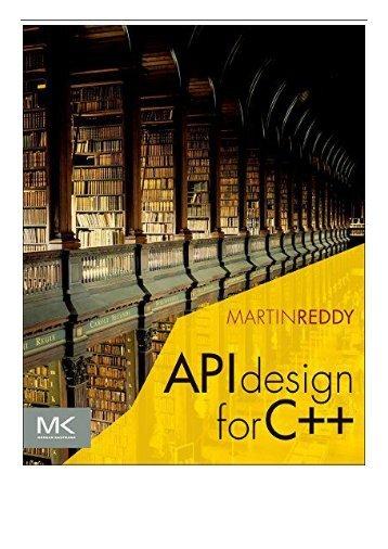 PDF Download API Design for C++ Free books