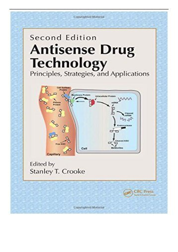 PDF Download Antisense Drug Technology Principles Strategies and Applications Second Edition Free books
