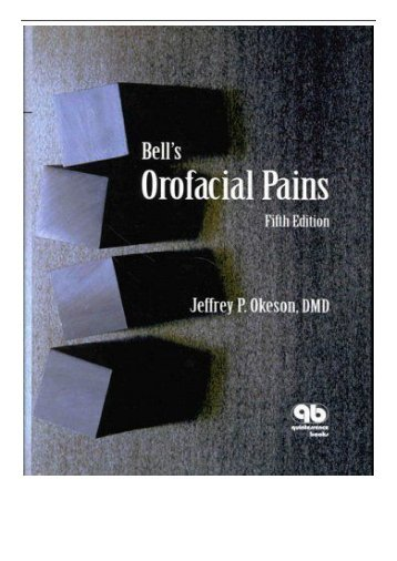 PDF Download Bell's Orofacial Pains Free books