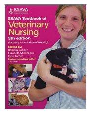 PDF Download BSAVA Textbook of Veterinary Nursing BSAVA British Small Animal Veterinary Association