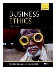 PDF Download Business Ethics Managing Corporate Citizenship and Sustainability in the Age of Globalization