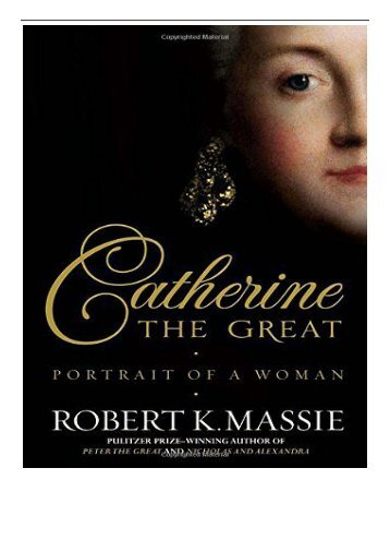 PDF Download Catherine the Great Portrait of a Woman Free eBook