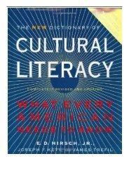 PDF Download Cultural Literacy Free eBook