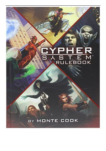 PDF Download Cypher System Rulebook Free books