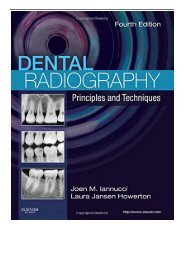 PDF Download Dental Radiography Principles and Techniques 4e Free books