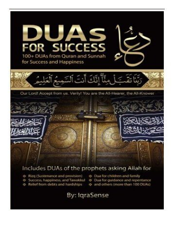 PDF Download DUAs for Success 100+ DUAs prayers and supplications from Quran and Hadith Free online