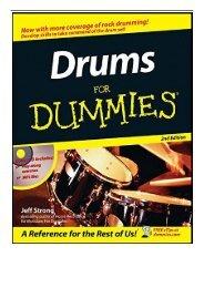Drumming For Dummies Pdf