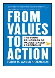 PDF Download From Values to Action The Four Principles of Values-based Leadership Free eBook