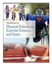 PDF Download Foundations of Physical Education Exercise Science and Sport Free books